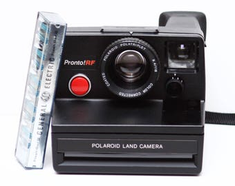 Vintage Polaroid Pronto! RF SX-70 Film Land Camera with Flash Bar Made in USA 1970s Fully Operational