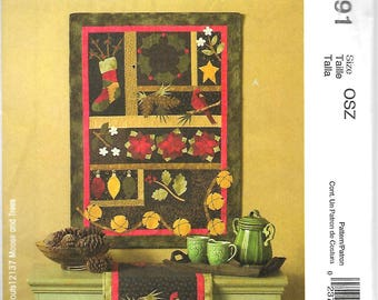McCall's 4991    Guilt/Wall Hanging and Table Runner     Uncut