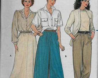 25% OFF Butterick  3027       Misses  Skirt, Culottes and Pants    C1984       Size 14,16,18   Uncut