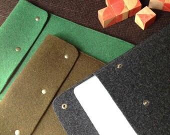 Housse, Etui, pochette macbook pro 13p / protection en feutre de laine ordinateur portable