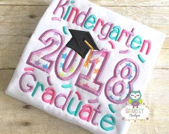 Kindergarten Graduate 2018 Shirt, School Graduation, Kindergarten Graduation, Graduation, Graduation 2018, Preschool Grad, Pre-K Graduate