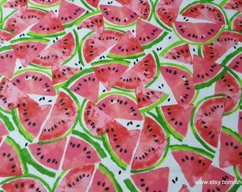 Flannel Fabric - Watermelon Slices - By the Yard - 100% Cotton Flannel