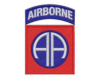 82nd Airborne Embroidery Design