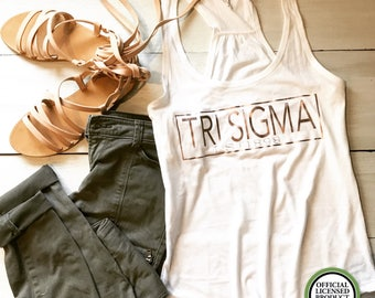 Tri Sigma tank rose gold