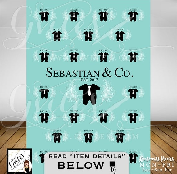 Step & Repeat backdrops, Baby and Co BOY themed wall poster photo shower back drop, party banner, photo booth wall backdrops, PRINTABLE