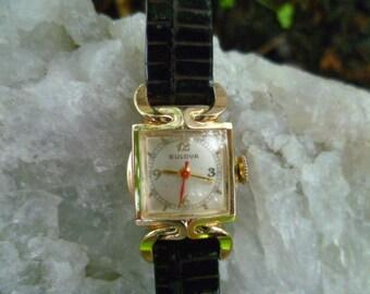 ladies bulova watch, vintage bulova, nurses watch, wind up watch
