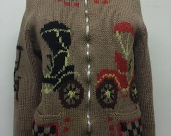 Vintage Brown Cowichan Sweater Jacket  Car design
