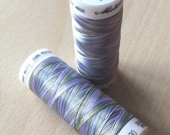 Multi color green purple 9980 thread