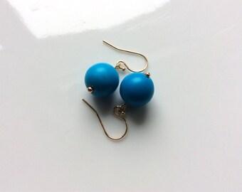 Turquoise - True Blue - Persian - Sleeping Beauty (the best) - 14k drop earrings