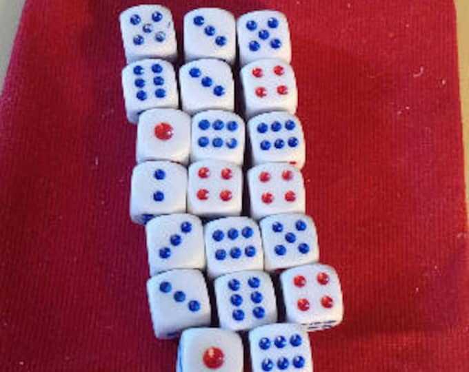 Wargamer Bulk Dice Pack - 20 d6 Dice Set with Pouch