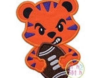Personalized Football Team Mascot Tiger Bulldog Elephant Hound Dog Gator Applique Shirt or Onesie