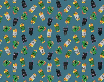 Minecraft Fabric Mini Mobs Fabric From Springs Creative 100% Cotton