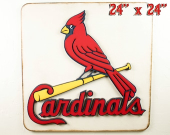 St Louis Cardinals St Louis Sports Cardinals Fan Gift Cardinals Signs Man Cave Decor Fathers Day Gift Baseball Sign Gift For Dad Sports Bar