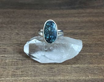 New Lander Statement Ring // Sterling Silver // Turquoise