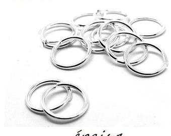 X 20 8mm thickness 1 mm silver rings