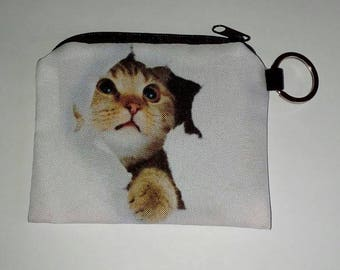 X 1 wallet white cat