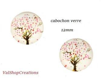 Cabochon tree of life 2 X 12mm