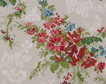 7 yards / 6,5 meters French lampas fabric - 100% silk