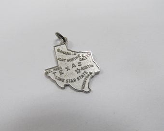 Vintage Sterling Texas State Charm W #904