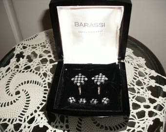Vintage Set of Barassi Cuff Links and Button Covers