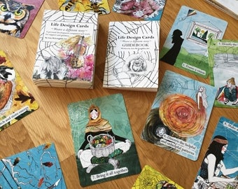 Life Design cards - oracle deck - practical cards - mini guidebook- problem solving cards - oracle cards- nature - astrology cards- seasonal