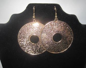 Vintage Large Circular Dangle Earrings