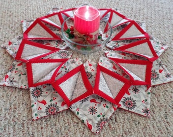 Christmas Centerpiece Candle holder, handcrafted, beautiful