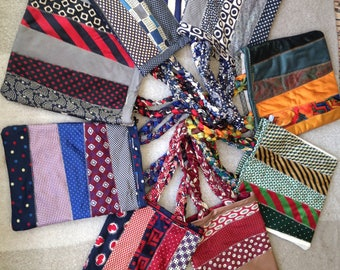 Tote Bags made out of Silk Neck Ties