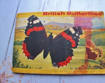 Full set of 50, Butterflies booklet  Brooke Bond Tea cards,