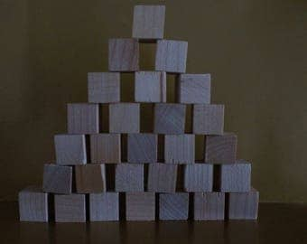Unfinished Wood Cubes 1/2 inch