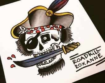 Pirate Skull // Original Flash Painting