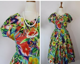 60% OFF One only! 1950's dress / vintage reproduction dress / size S / vintage 50's dress / 34 bust /