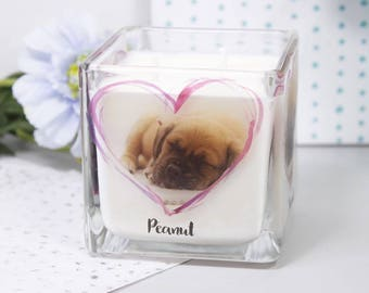 Pet Photo Scented Candle - Personalised Candle - Pet Loss Gift - Pet Keepsake Gift - Pet Photo Candle - Memorial Candle - Photo Candle