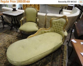 35% Off Summer Sale ON SALE Fabulous Antique French Louis XV Fainting Sofa Light Green Upholstery