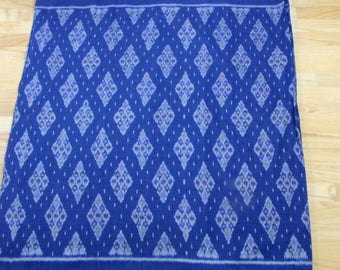 Hand Woven Ikat, Blue, Light Blue, Violet, 100% Cotton by the Yard