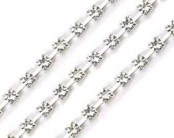 Diamond rhinestone 5 mm wide band