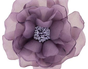Purple organza flower
