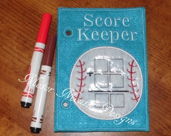 Busy Soft Book - Activity Page - Quiet Book- Baseball - Activity Book Pages - Toddler Toys