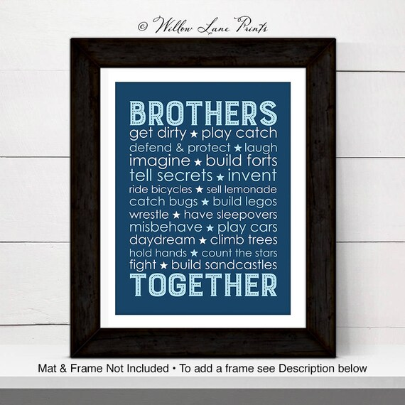 Navy blue boys playroom decor - brothers together - brothers subway ...