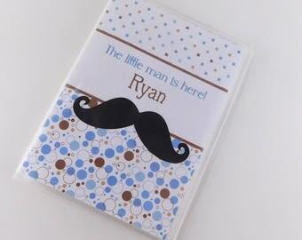Photo Album Mustache Baby Shower Little Man Newborn Baby Boy 4x6 5x7 Pictures Cards  #808