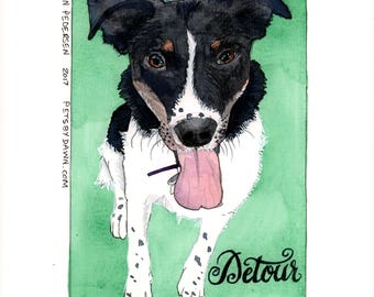 Custom Dog Portrait in Watercolor from Your Photo
