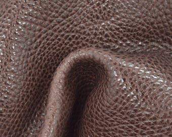 "Hazel Brown Leather Cow Hide 8"" x 10"" Pre-cut 4-4 1/2 oz Large Pebble Grain TA-57898 (Sec. 3,Shelf 2,C)"
