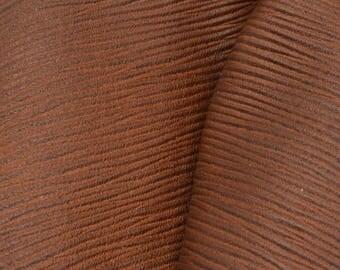 """Treasure Chest Brown Leather Cow Hide 4"""" x 6"""" Pre-cut 1 1/2-2 ounces DE-63205 (Sec. 3,Shelf 6,A,Box 6)"""