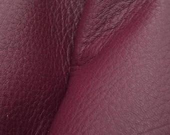 "NZ Deer Sale Royal Plum Purple Leather New Zealand Deer Hide 4"" x 6"" Pre-cut 3-3 1/2 oz -11 DE-66110 (Sec. 3,Shelf 5,A,Box 3)"