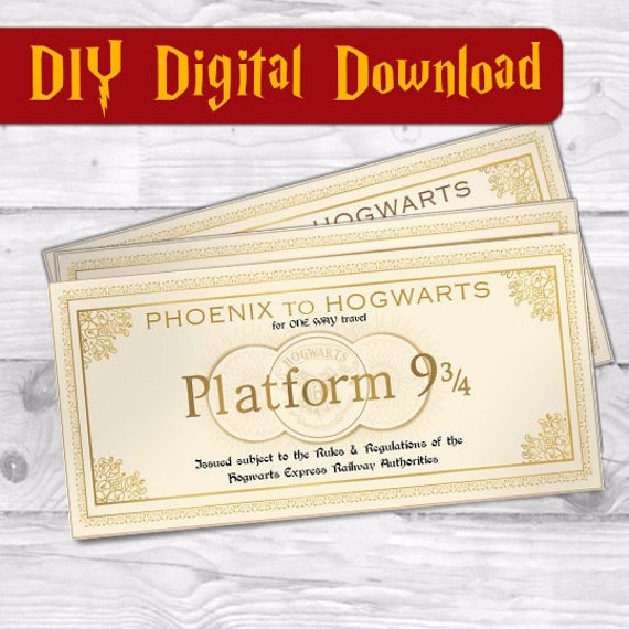 Obsessed image for hogwarts express ticket printable