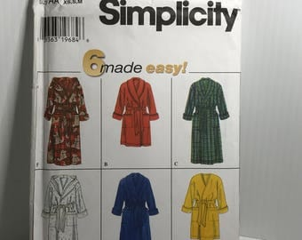 D243 Simplicity 7417,sewing pattern, robe pattern, men's,women's,teens,size XS S M  uncut