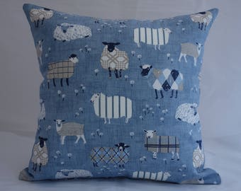 Pillow - Sheep design feature cushion, complete with cushion pad, zip fastening