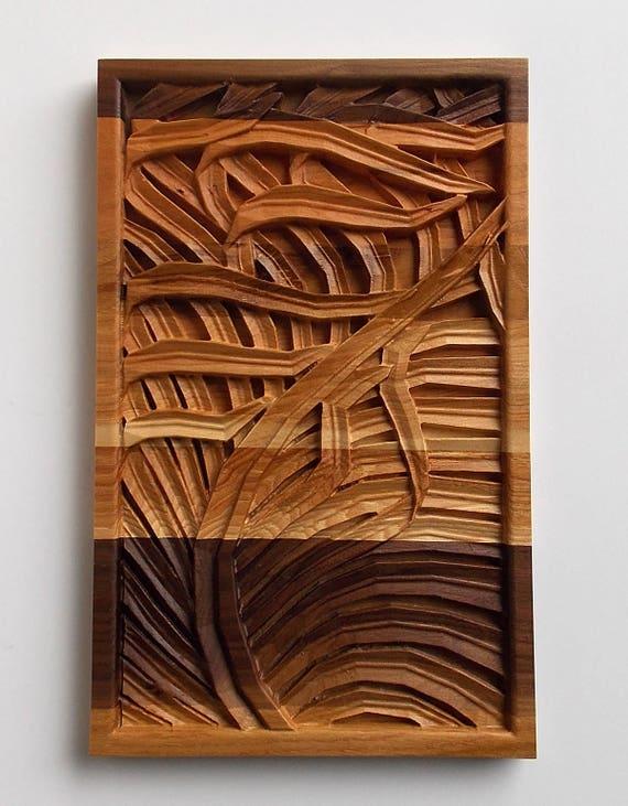 Wood Decor Carved Wood Panel Wood Wall Art Panel Decorative