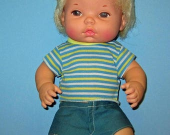 SALE Baby Brother Tender Love, Like New, Original Box, Vintage 1975, Anatomically Correct Boy Doll