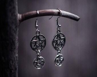 Two Pentacles Earrings